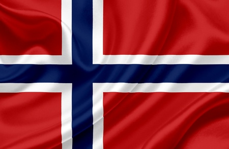 norway flag: Norway waving flag Stock Photo