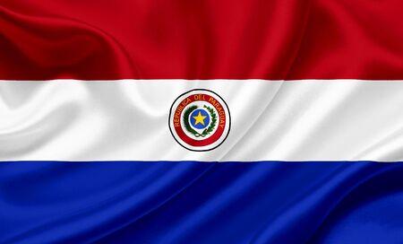 Paraguay: Drapeau de ondulation du Paraguay