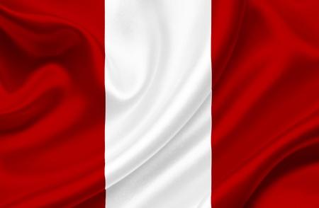 Peru waving flag photo