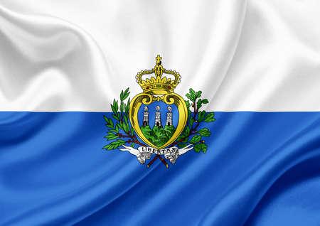 san marino: San Marino waving flag
