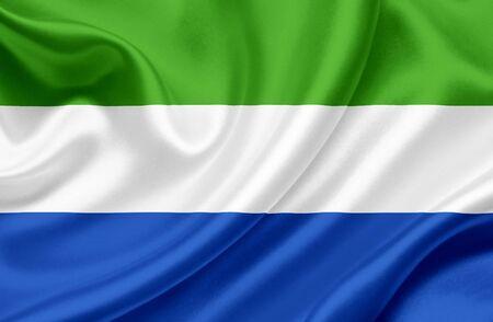 Sierra Leone waving flag Stock Photo - 13329625