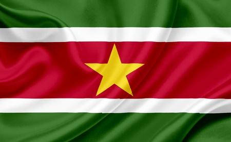 suriname: Suriname waving flag Stock Photo