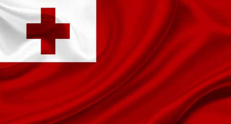 Tonga waving flag photo
