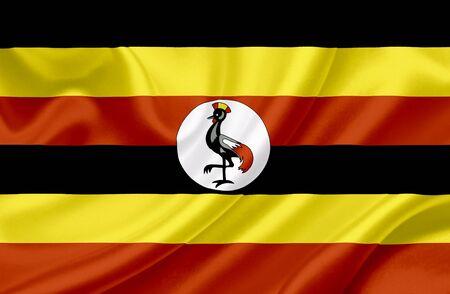 uganda: Uganda waving flag