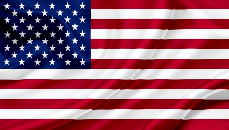 flag of usa: United States of America waving flag