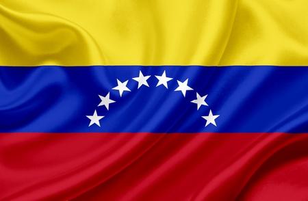 Venezuela waving flag Stock Photo