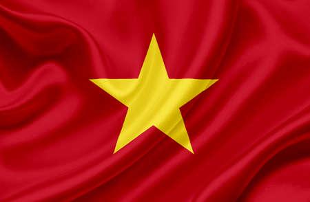 Vietnam waving flag Stock Photo - 13329567