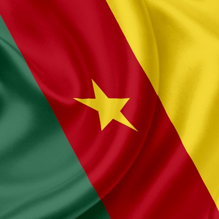 Cameroon waving flag photo