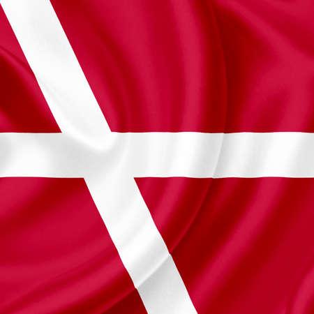 Denmark waving flag photo