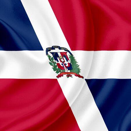 Dominican Republic waving flag photo