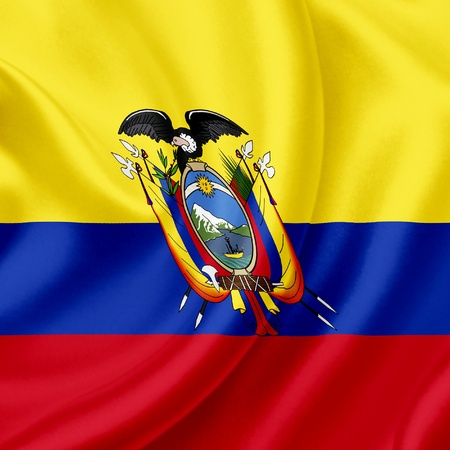 Bandera de Ecuador photo