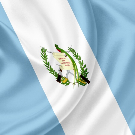 Guatemala waving flag photo
