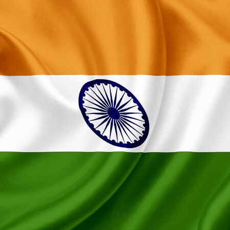 India waving flag photo