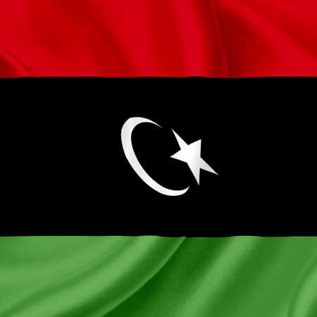 Libya waving flag photo