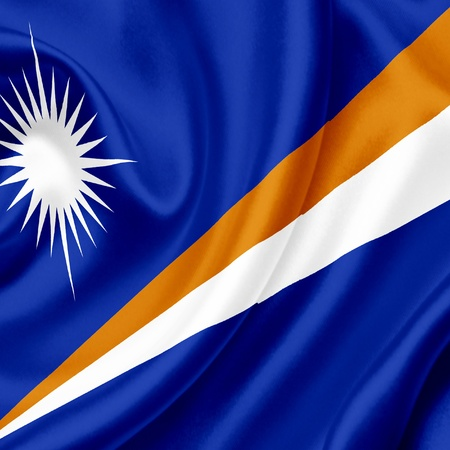 marshall: Marshall Islands waving flag