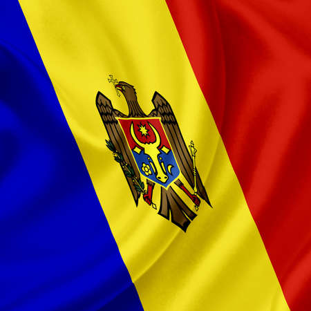 Moldova waving flag Stock Photo - 13390569