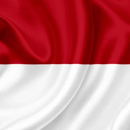 Monaco waving flag photo
