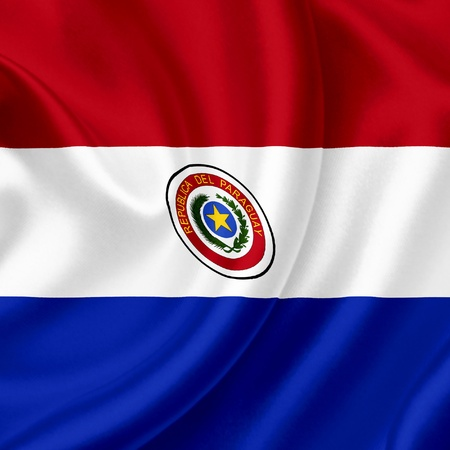 paraguay: Paraguay waving flag Stock Photo