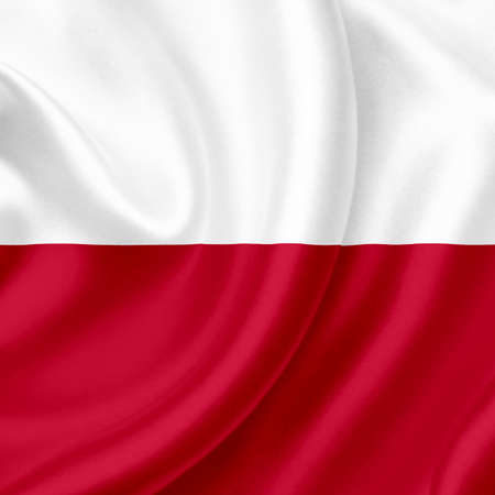 Poland waving flag photo