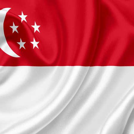 Singapore waving flag