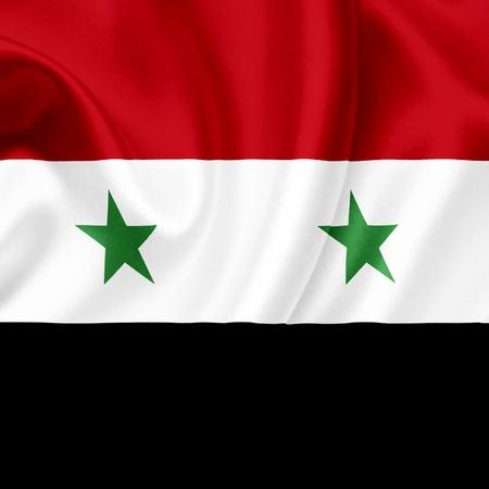Syria waving flag photo