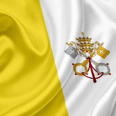 Vatican waving flag