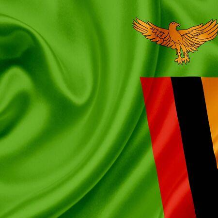 zambia: Zambia waving flag