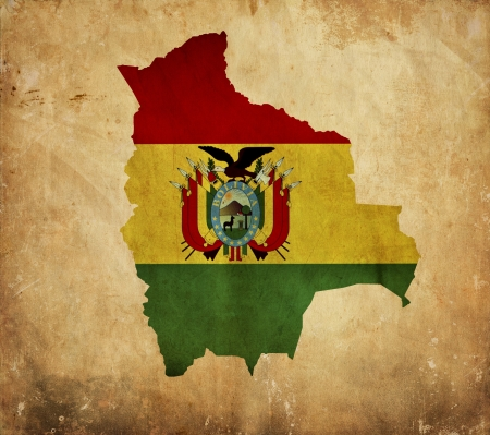 Vintage map of Bolivia on grunge paper Stock Photo - 13946162