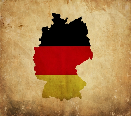 Vintage map of Germany on grunge paper photo