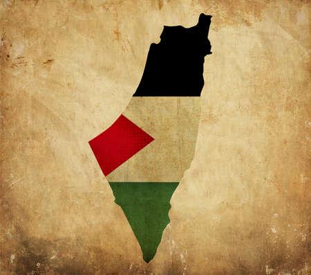 palestine: Vintage map of Palestine on grunge paper  Stock Photo