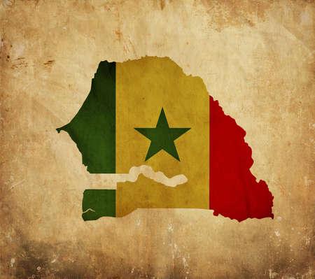 Vintage map of Senegal on grunge paper Stock Photo - 13946058