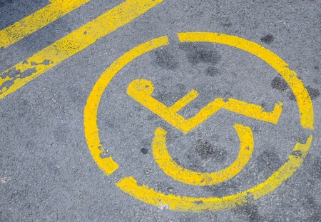 Parking space for disabled photo