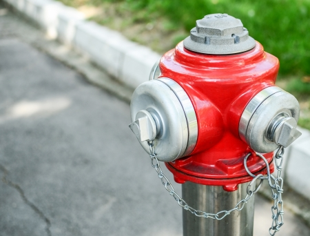Water hydrant on street photo