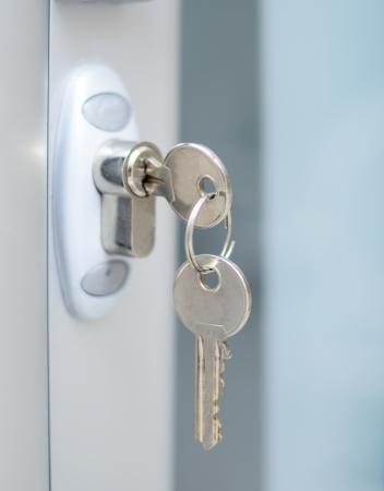 Serratura witj tasti macro shot - concept immobiliare