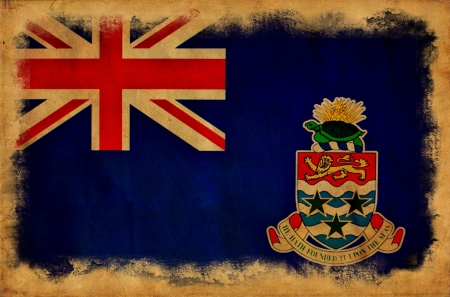 Cayman Islands grunge flag photo