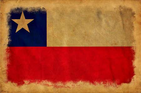 Chile grunge flag photo