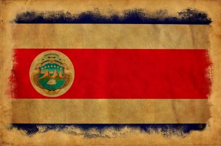 Costa Rica grunge flag photo