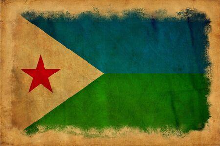 Djibouti grunge flag Stock Photo