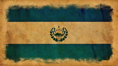 el salvador: El Salvador grunge flag Stock Photo