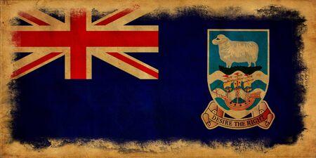 falkland: Falkland islands grunge flag Stock Photo