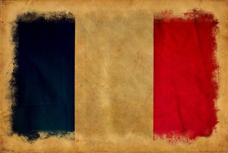 France grunge flag photo