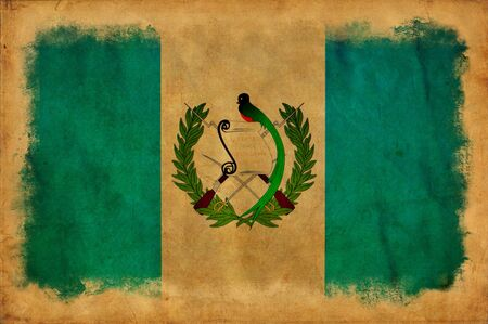 Guatemala grunge flag photo