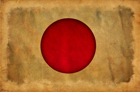 Japan grunge flag photo