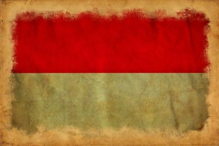Monaco grunge flag photo