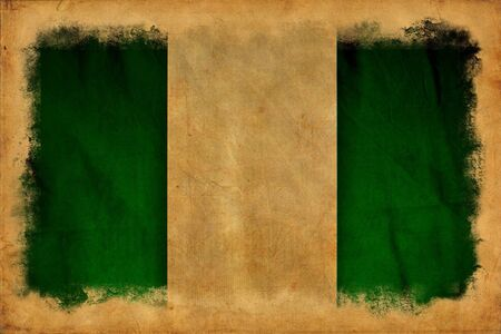 Nigeria grunge flag photo
