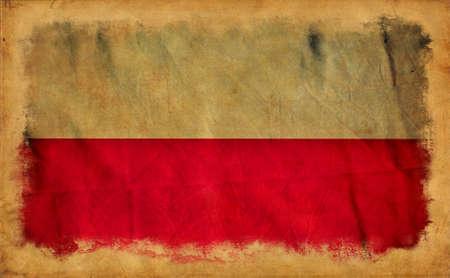 Poland grunge flag photo