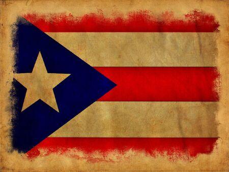 bandera de puerto rico: Puerto Rico la bandera del grunge Foto de archivo
