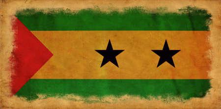 tome: Sao Tome and Principe grunge flag
