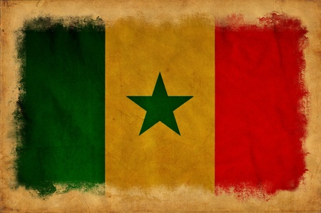 Senegal grunge flag photo