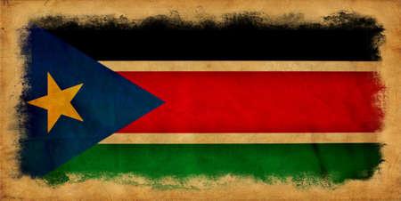 south sudan: South Sudan grunge flag Stock Photo